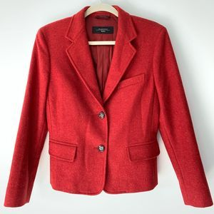 Maxmara Weekend Red Wool Blazer Size 12